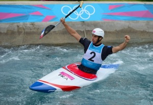 French slalom canoeist champion, Tony Estanguet